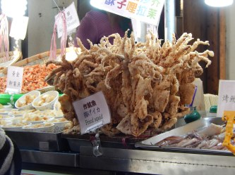 Deep fried aliens. Not really! They're squid of course. Found everywhere but particularly at night markets and on the prom at Danshui.