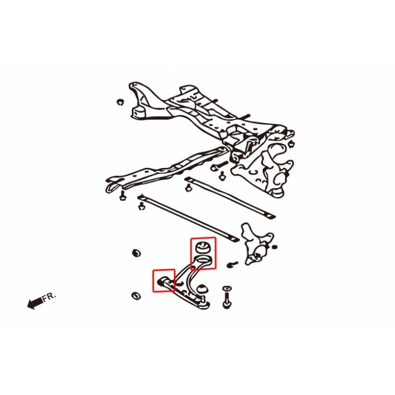 Kit Silent-Blocs Triangles Inf. Av. Mitsubishi Lancer Evo