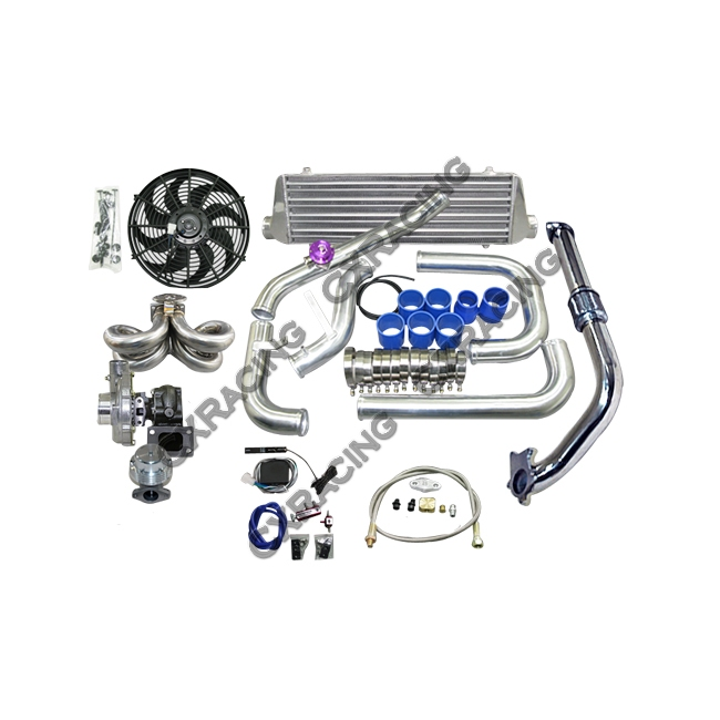 Turbo Kit For 92-00 Honda Civic D15 D16 Engine Tube & Fin