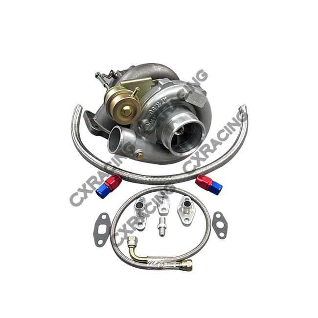 T61 Turbo Charger + Oil Kit Toyota For 86-92 Supra MK3 MK