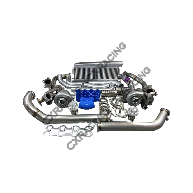 T04E Twin Turbo Intercooler Kit For 79-93 Ford FoxBody