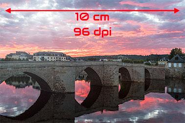 Illustration de la non-pixellisation provoqué par une résolution adéquate de l'image par rapport à sa taille.