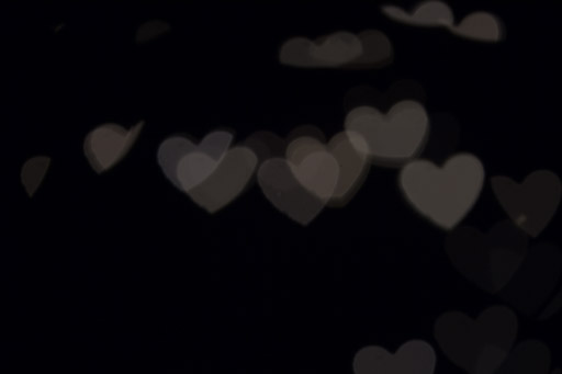 Exemple de bokeh en forme de cœur.