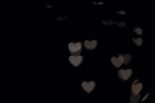 Exemple 3 de prise de vue de bokeh en forme de cœur.