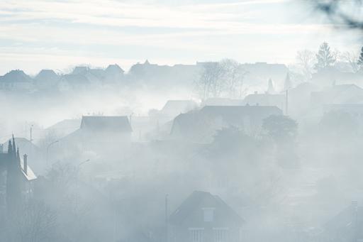 Illustration du type de photo que l'on peut obtenir en sortant par temps de brume quand les rayons du soleil percent.