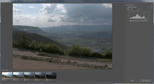 Interface du module Fusion HDR Pro de Photoshop.