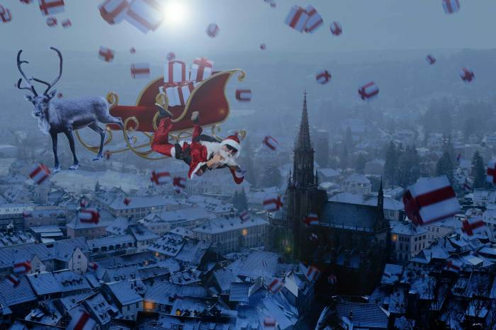 Photomontage du mois de Décembre : Une pluie de cadeaux de Noël !