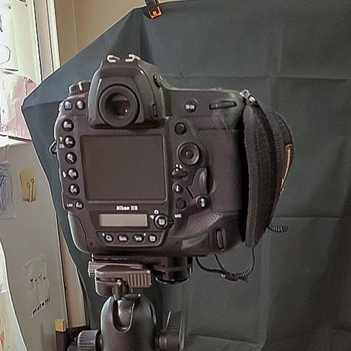 Photo du setup pour le prise de vue des effets de lens-flare