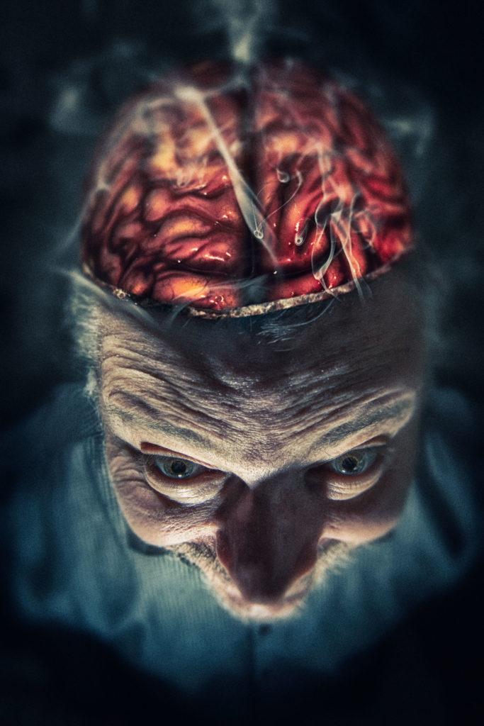 """Photomontage du mois d'avril : """"Le cerveau en ébullition"""""""