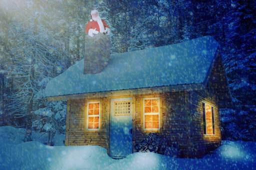 Père Noël coincé photomontage