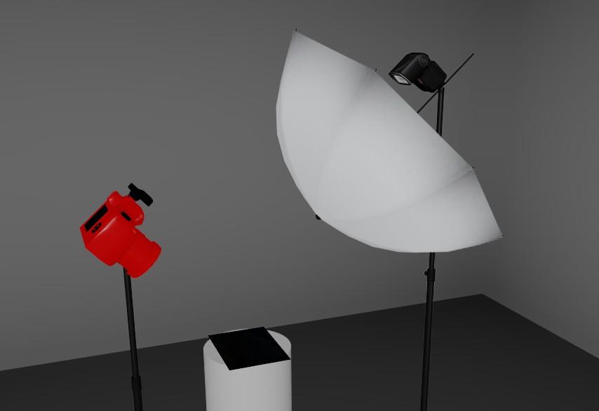 Plan d'éclairage lumière directe