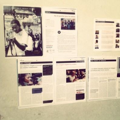 Le dossier consacré aux médias dans le numéro 28 d'Afriscope