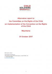 Rapport alternatif au CRC : Child Soldiers International recommande que la Mauritanie identifie et protège les enfants recrutés par les groupes armés