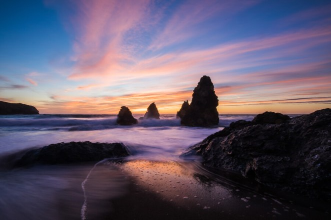 Lovely Rock Formations, Rodeo Beach, the United States