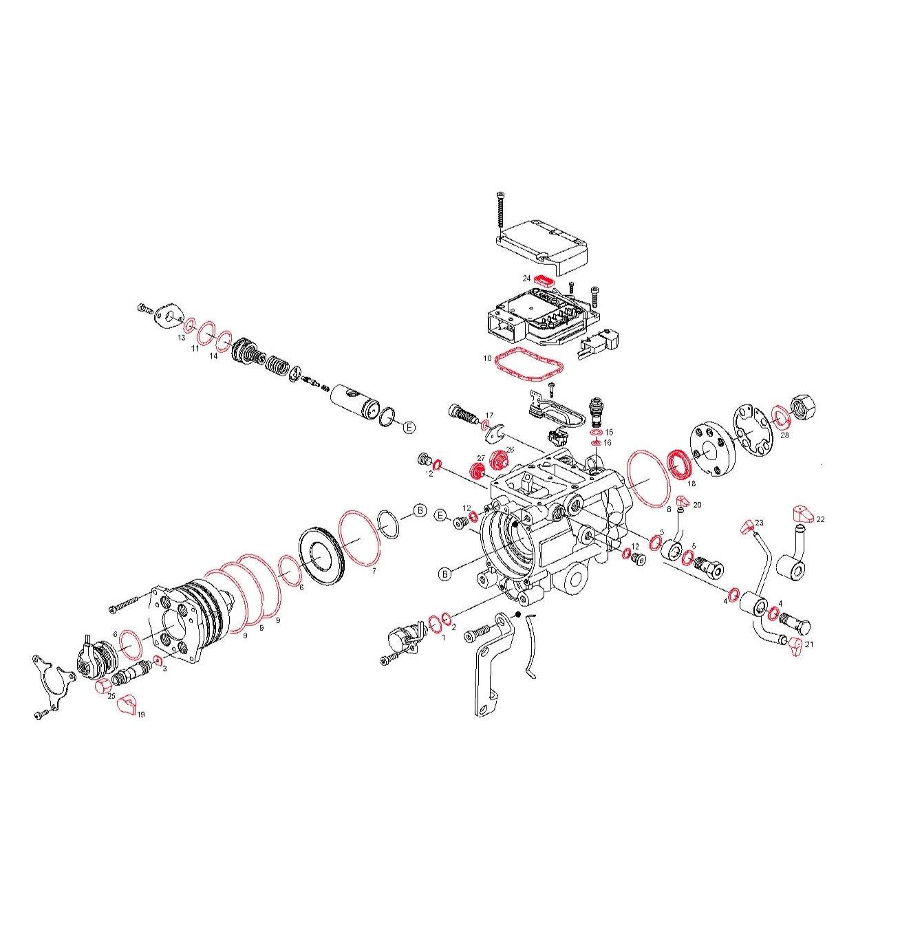 Seal Repair Kit For Bosch Vp44 Pumps Non Genuine