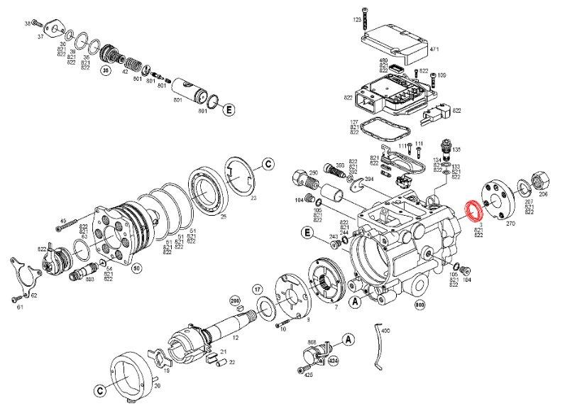Bosch CP3 CP4 VP44 driveshaft seal 36mm outer diameter