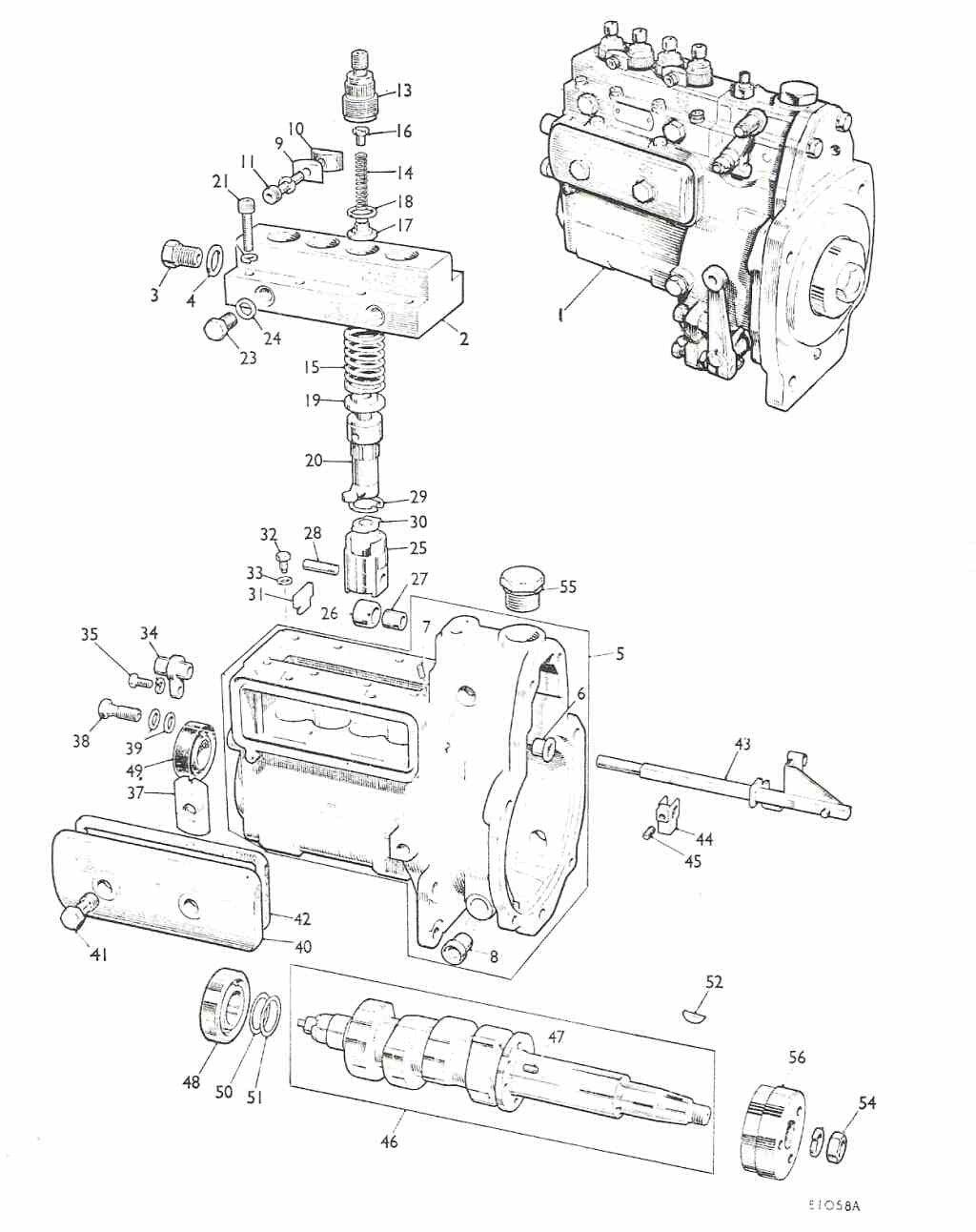 hight resolution of plunger and element for simms minimec pumps 8 0mm diesel zetor 5211 parts diagram zetor 3320 parts