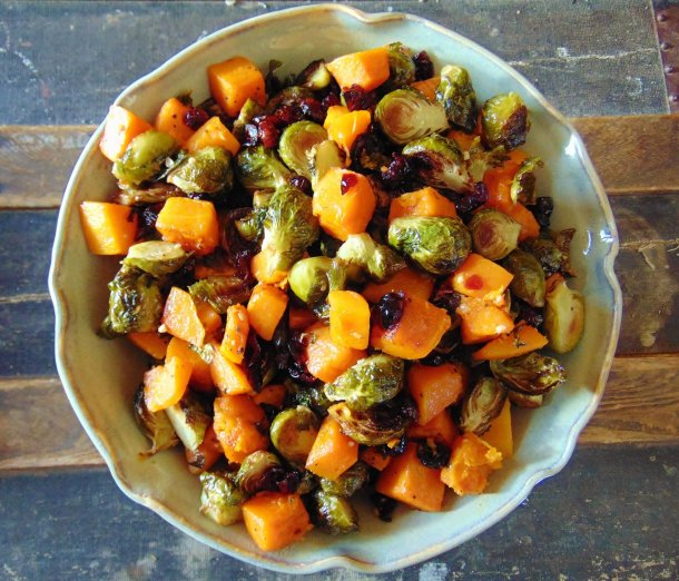 Butternut, Brussel Sprout, Cranberry with Dijon Vinaigrette