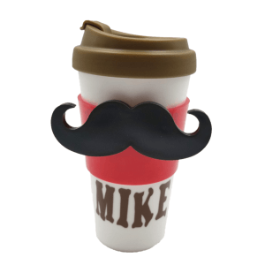 Mustache Travel Coffee Cup