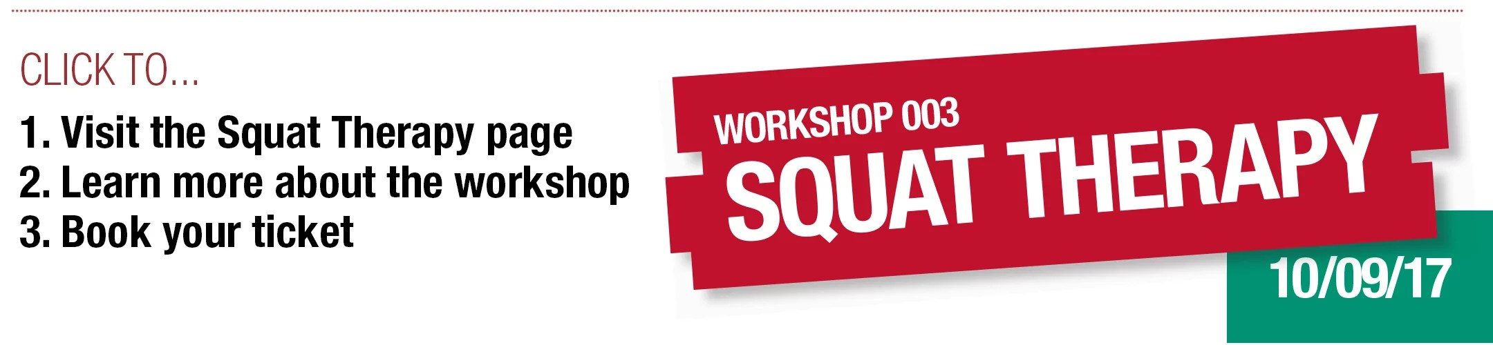 Injury Active Clinic - Squat Therapy - Workshop 002 - CrossFit Cambridgeshire