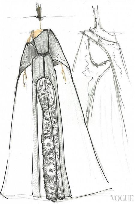 Эскиз платья Ивана Фролова