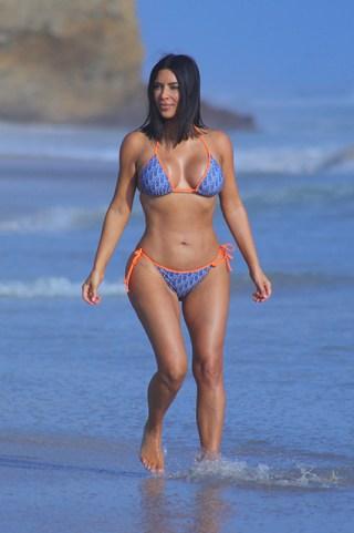 EXCLUSIVE: **NO WEB UNTIL 7PM BST 26TH APRIL PREMIUM EXCLUSIVE RATES APPLY** Kim Kardashian rocks a Dior 2-piece Bikini on the beach while enjoying her all-girls Mexico Vacation at Casa Aramara in Puna Mita