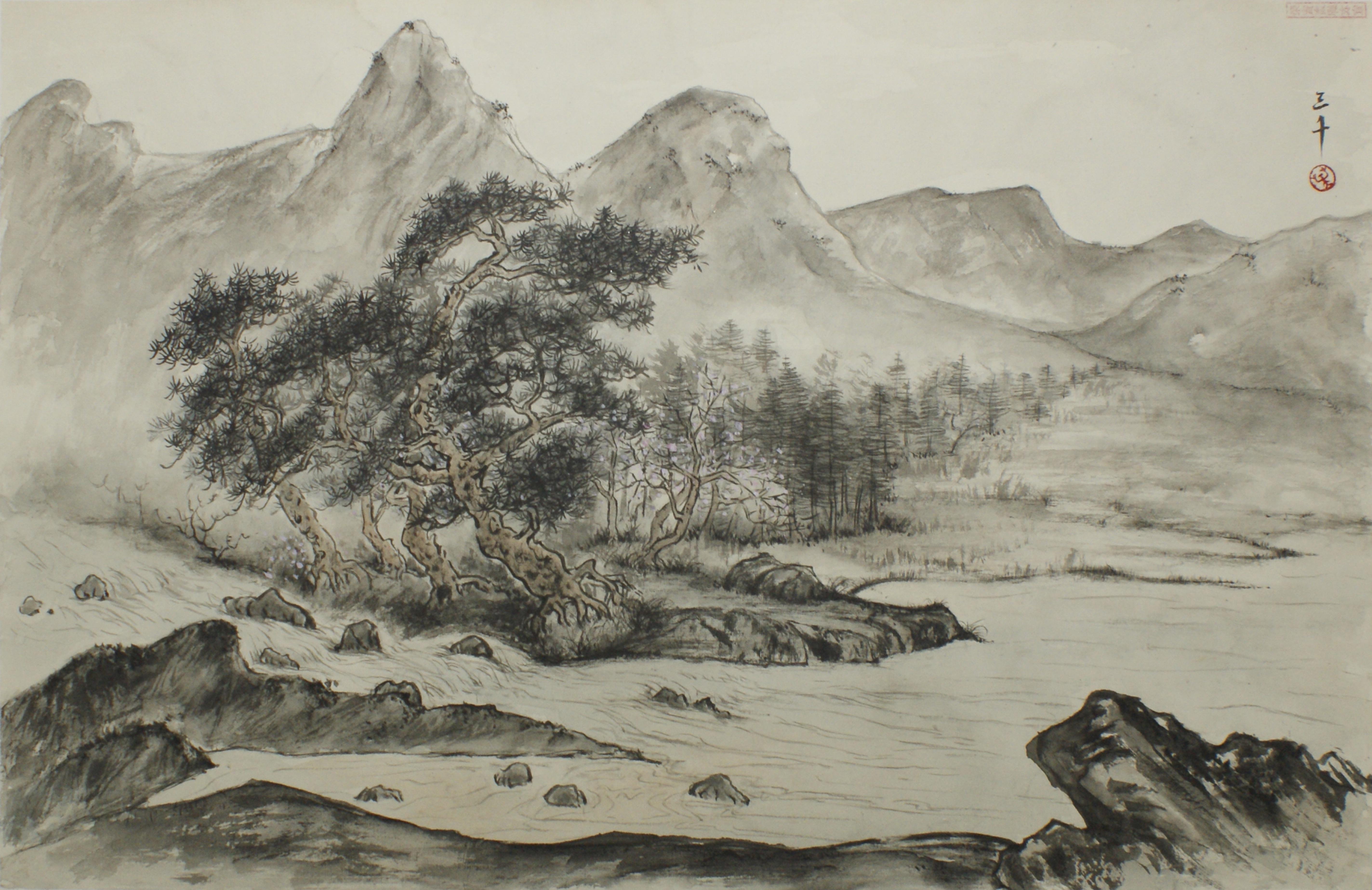 參展學生 : 邱雲英 – 第廿六屆中國水墨畫文憑課程畢業展