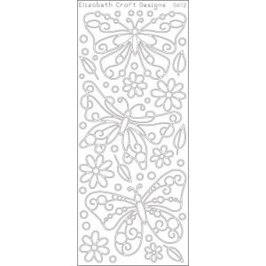 Big Butterflies Peel-Off Stickers – Silver
