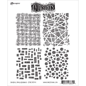 Dyan Reaveley's Dylusions Cling Stamp Collections 8.5″X7″ – Graphic Backgrounds