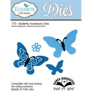 Elizabeth Craft Pop It Up Metal Dies By Karen Burniston – Butterfly Accessory
