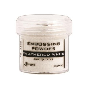 Embossing Powder .56oz Jar – Weathered White