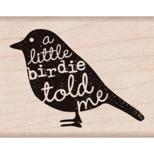 Hero Arts Mounted Rubber Stamps 2″X1.75″ – Birdie Told Me