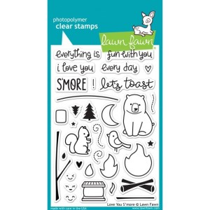 Lawn Fawn Clear Stamps 4″X6″ – Love You S'more
