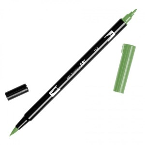 Tombow Dual Brush Marker – 158 Dark Olive