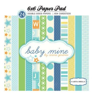 Carta Bella – 6 x 6 Paper Pad ? Baby Mine Boy