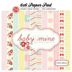 Carta Bella – 6 x 6 Paper Pad – Baby Mine Girl