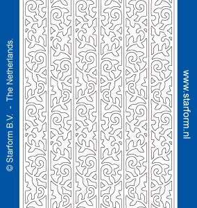 Starform Glitter Stickers 7045 – Purple/Silver