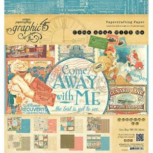Graphic 45 8×8 Paper Pad, Come Away With Me