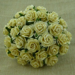 Wild Orchid Crafts Yellow Mulberry Paper Open Roses