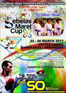 "Southeast Asian Karate University Champonship ""Sebelas Maret Cup X"""