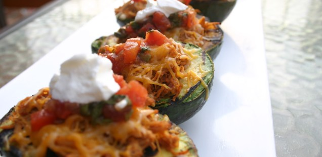 Turkey Stuffed Avocado Taco Boats