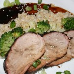 "Teriyaki Pork Tenderloin ""You're Rock Candy Baby. Hot, Sweet, and Sticky"""