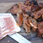 Bacon Wrapped Pork Steak Stix