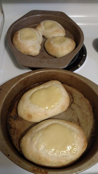 Here they are with the custard in them!
