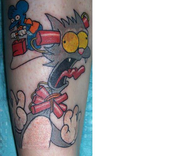 Itchy and Scratchy Tattoo Celebrate 20 Years of The Simpsons with 20 Tattoos