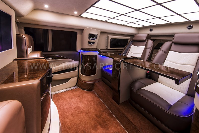 Armored Cadillac Escalade Vip Limo Interior Custom