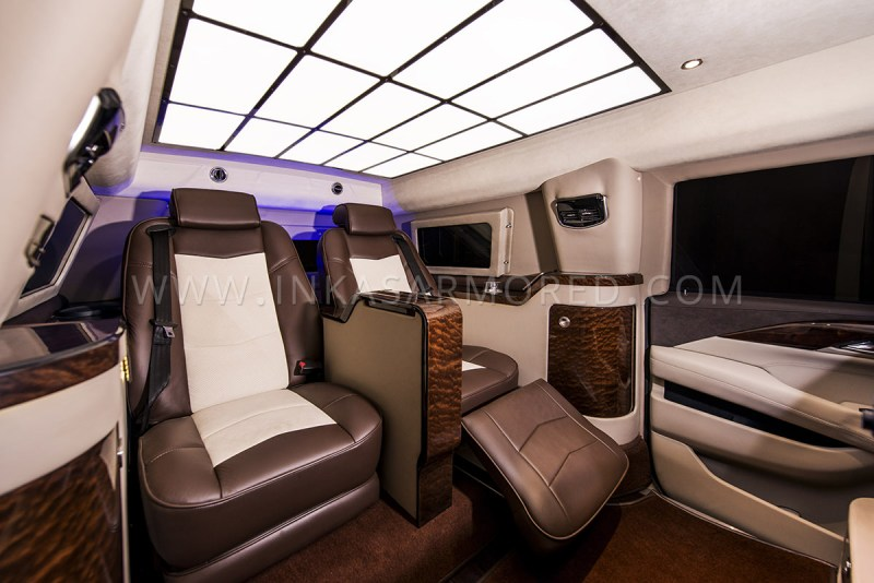 Interior Custom Armoured Cadillac Escalade Limousine