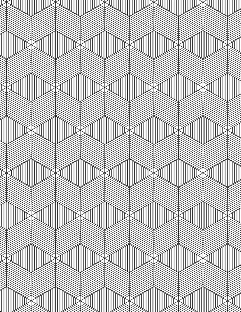 Geometric Patterns Volume 01 Adult Coloring Book (eBook