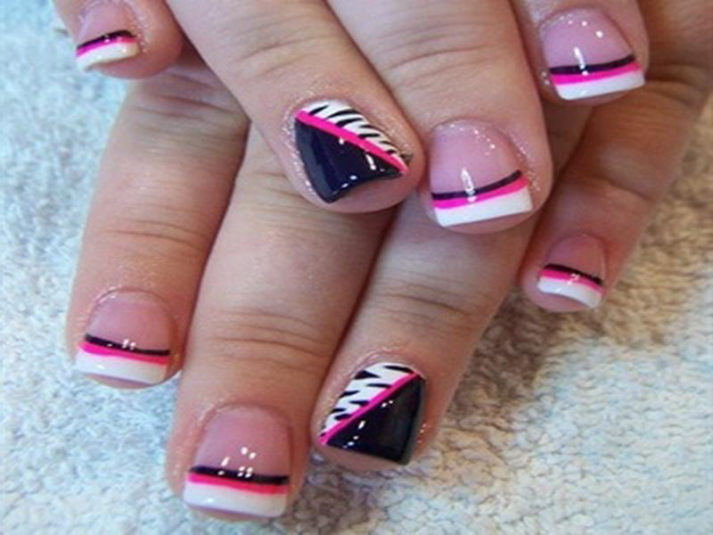 French Tip Toenail Designs 3 - Inkcloth