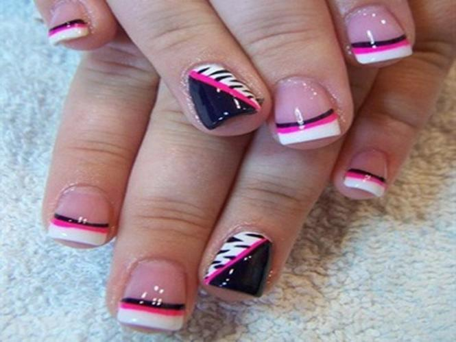 French Tip Nail Design 19